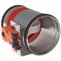 Clapeta antifoc circulara cu servomotor 24V D 250 mm