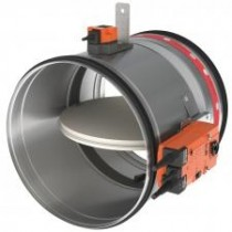 Clapeta antifoc circulara cu servomotor 24V D 125 mm