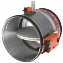 Clapeta antifoc circulara cu servomotor 230V D 125 mm