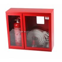 Cutie hidrant 650x735x250mm cu locas stingator lateral - robinet aluminiu
