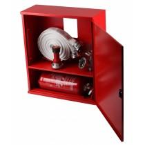 Cutie hidrant 735x650x250mm cu locas stingator dedesubt - robinet aluminiu
