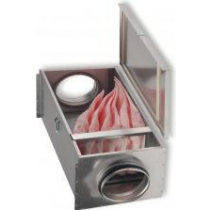 Cutie filtranta cu sac de filtrare F7 pentru tubulatura circulara Ø100