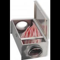 Cutie filtranta cu sac de filtrare F7 pentru tubulatura circulara Ø125