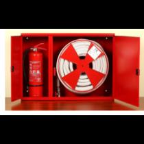 Hidrant interior complet echipat cu locas pentru stingator lateral 700x950x300mm D-33