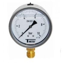 Manometru radial ,0…10 bar , antivibrator , carcasa inox D 63 mm