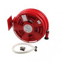 Sistem tambur cu consola perete D-25 PVC rosu