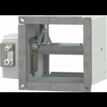 Volet  de desfumare rezistent la foc cu electromagnet L200 X H200
